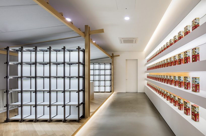 ginseng showroom by sml + the cornerz reinterprets traditional cultivating structure as retail area