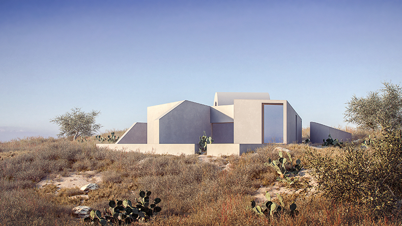 a monolithic residence by kapsimalis architects resembles a volcanic rock in santorini